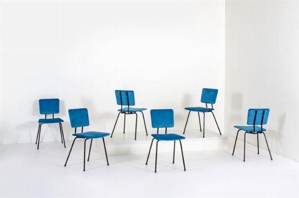 PRODUZIONE ITALIANA : Sei sedie con struttura in tubolare ...