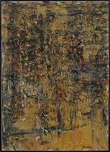 PINOT GALLIZIO & SOSHANA AFROYIM [] - Abstraction on Golden Background, 1959