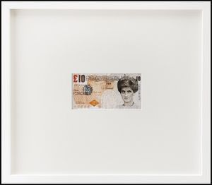 BANKSY [ 1974 - Bristol, Regno Unito] - Di-faced £ 10 note a Barely legal, 2004