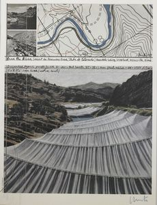 Christo - Over the river. Project for Arkansas River.