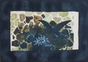 BRAQUE GEORGES - Le nid vert, 1950 ca (Maeght 1028)