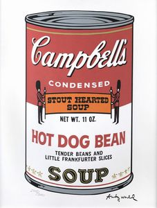 WARHOL ANDY USA 1927 - 1987 - Campbell's Soup - Hot dog bean