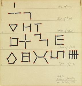 BOCHNER MEL (n. 1940) - Study for to count: transitive.