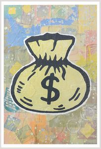 DONALD BAECHLER [Hartford, Connecticut (USA) 22/11/1956] - Money Bag, 2008
