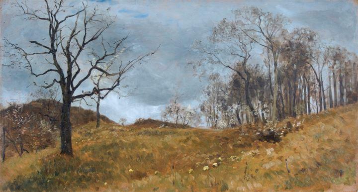Calderini Marco Torino 1850 1941 Paesaggio Autunnale 1891 Asta