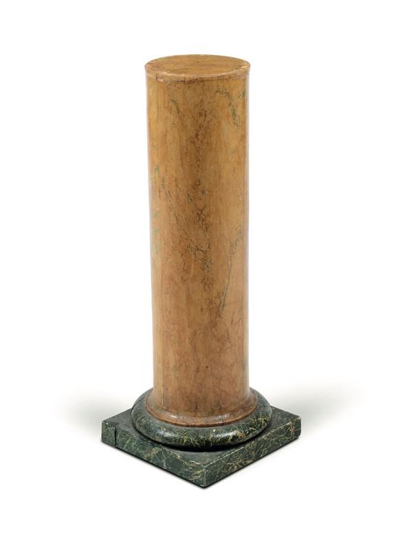Colonna Legno Antiquariato.Colonna In Legno Dipinto A Finto Marmo Xix Secolo Asta