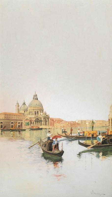 Giuseppe Vizzotto Alberti, In gondola alla Salute