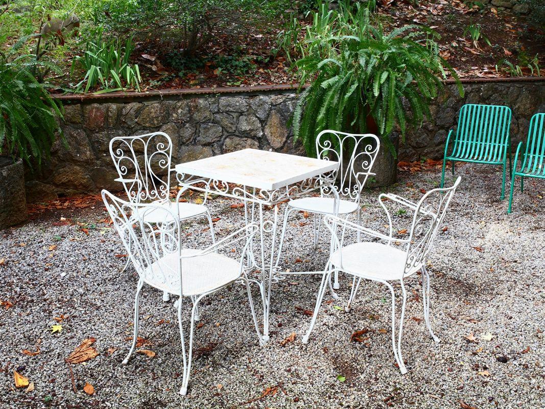Set Giardino In Ferro Battuto.Set Da Giardino In Ferro Battuto Asta House Sale Arte E Design