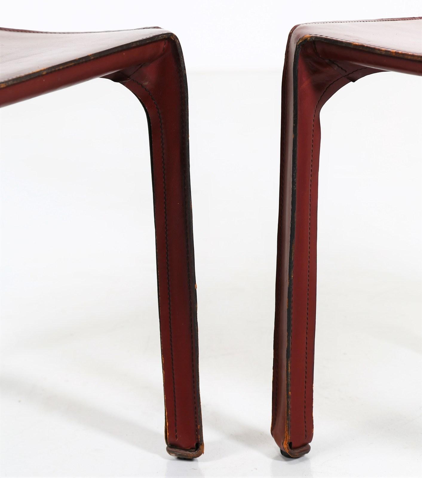 BELLINI MARIO (n. 1935) : Sei sedie modello 412 CAB ...