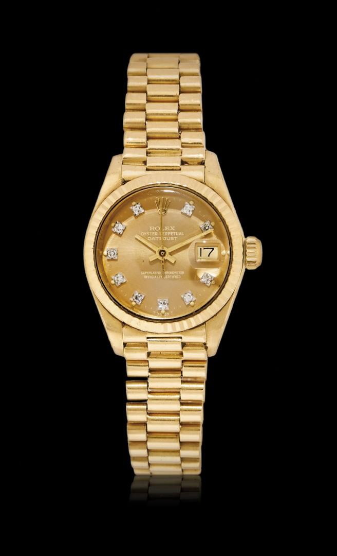 design senza tempo 98bd1 c6da2 Orologio da polso da donna Rolex Datejust in oro ref. 6917 ...